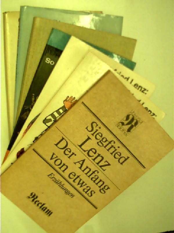 7x Bücher von Siegfried Lenz: 1. So zärtlich war Suleyken + 2. Exerzier-Platz + 3. Heimatmuseum ...,