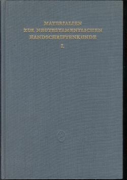 Materialien zur neutestamentlichen Handschriftenkunde 1. Hrsg. von K. Aland.