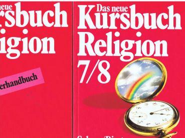 Das neue Kursbuch Religion. Arbeitsbuch [und] Lehrerhandbuch für den Religionsunterricht 7./8. Schuljahr. [2 Bände]. 1: Arbeitsbuch (ISBN 3766807862) - und - 2: Lehrerhandbuch (ISBN 3766807978)
