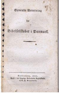 Syvende [7.] Beretning fra Bibelselskabet i Danmark.