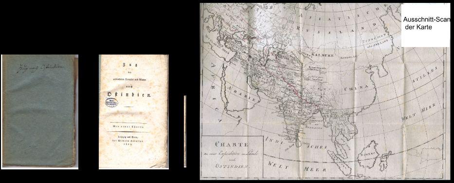 Zug der verbündeten Europäer und Asiaten nach Ostindien. Mit einer Charte.