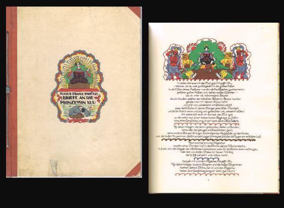 Briefe an die Prinzessin Wu. Schrift u. Text dieses Buches zeichn. Mara Schrötter-Malliczky auf d. Stein.