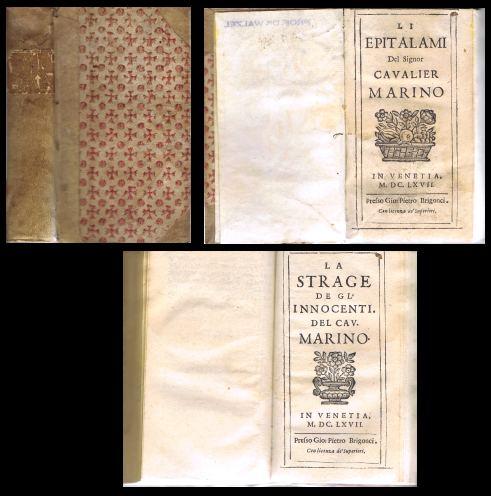 Li epitalami del signor cavalier Marino - [et] - La strage degli innocenti.