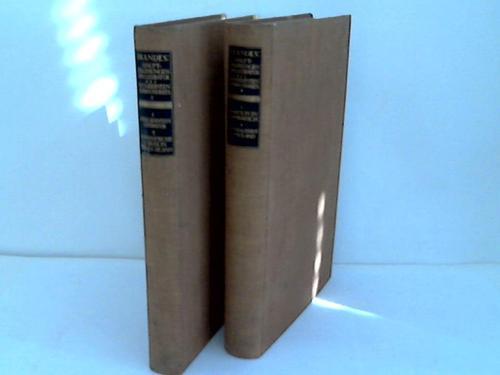 Haupströmungen der Literatur des neunzehnten Jahrhunderts. 4 Teile in 2 Bänden