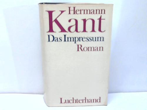 Das Impressum. Roman