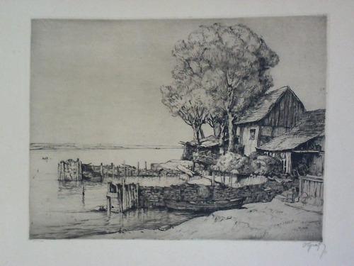 Haus des Fischers - Original-Radierung