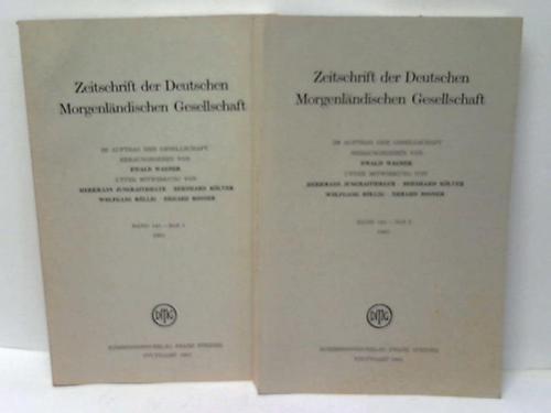 Zeitschrift der Deutschen Morgenländischen Gesellschaft. Band 141, Hefte 1 und 2