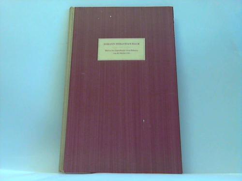 Faksimile-Reihe Bachscher Werke und Schriftstücke