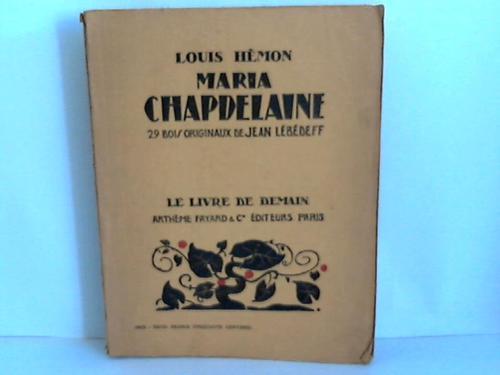 Maria Chapdelaine récit du Canada Francais