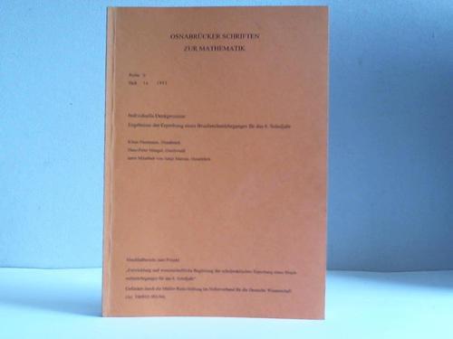 Osnabrücker Schriften zur Mathematik. Reihe D, Heft 14, 1997: Individuelle Denkprozesse. Ergebnisse der Erprobung eines Bruchrechenlehrganges für das 6. Schuljahr