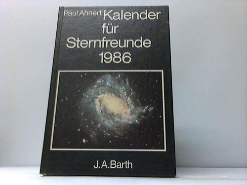 Kalender für Sternfreunde 1986. Kleines astronomisches Jahrbuch
