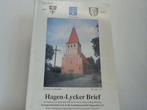 Hagen-Lyker Brief. Das jährliche Berichts-Organ mit Programm zum Jahrestreffen 2002 am 24. und 15. August in Hagen/Westfalen