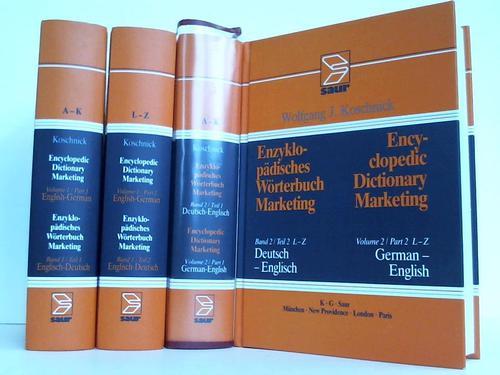 Encyclopedic Dictionary Marketing / Enzyklopädisches Wörterbuch Marketing. 2 Bände in 4 Bänden