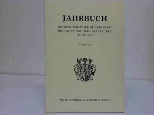 Emden  Jahrbuch der Gesellschaft für bildende Kunst und vaterländischer Altertümer zu Emden. 58. Band
