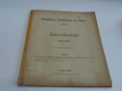 Jahresbericht 1906-1907