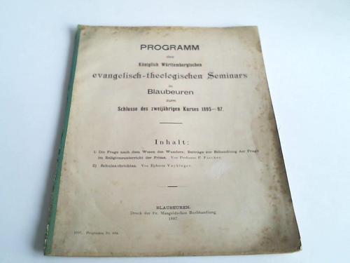 Programm zum Schlusse des zweijährigen Kurses 1895-97