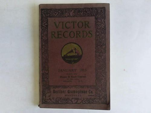 Victor Records January 1913