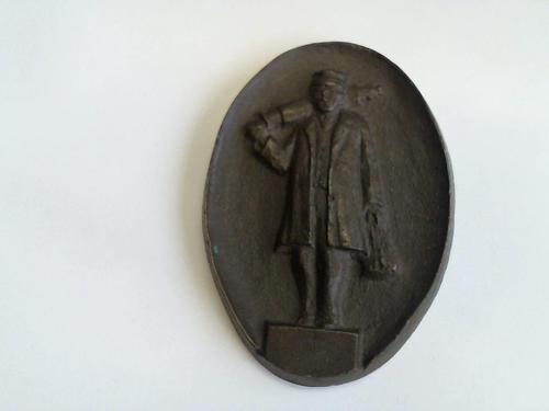 Ovales Bergarbeiter-Relief