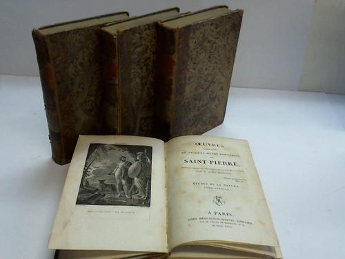 Etudes de la Nature. Oeuvers completes. Volume 3, 4, 5 u. 6. Zusammen 4 Bände
