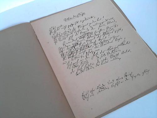 Schiller, Friedrich von  Der Wandersänger. Ein unbekannter Balladen-Entwurf Schillers