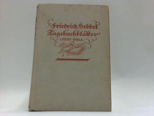 Tagebuchblätter 1835-1863