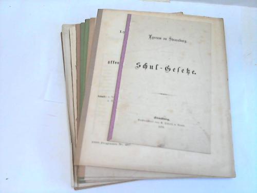 Programme zu der öffentlichen Prüfung. 8 Hefte 1881 bis 1888