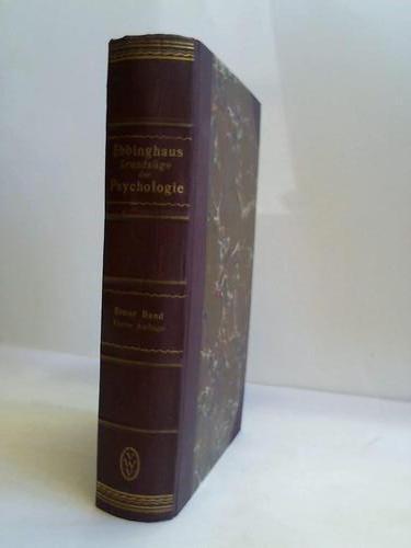 Grundzüge des Psychologie. Erster Band.