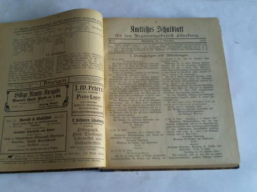 Amtliches Schulblatt für den Regierungsbezirk Lüneburg