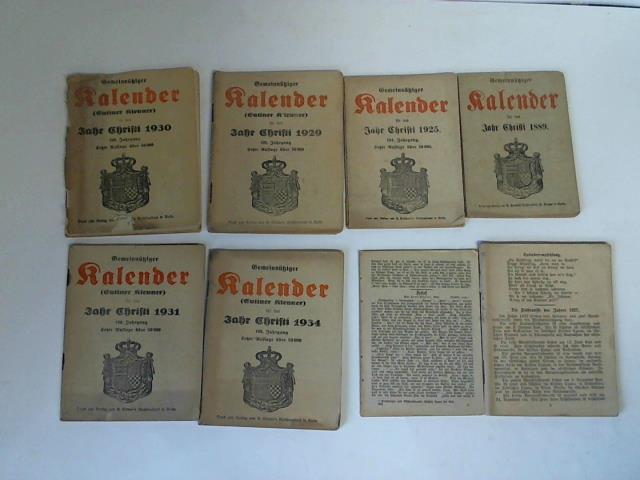 Sammlung von 9 Ausgaben