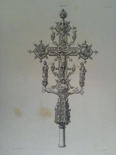 Kruzifix - Stahlstich, gestochen v. P. Ritter, nach v. F. Schönbrunner