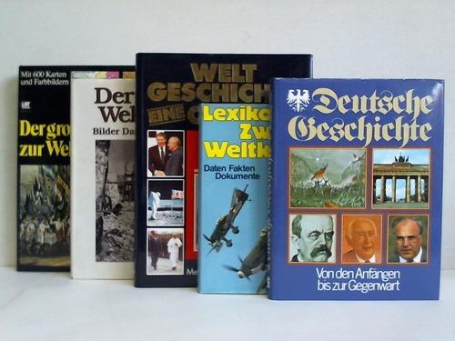 5 verschiedene Bände zur Weltgeschichte