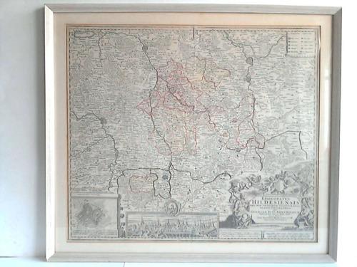 Episcopatus Hildesiensis Nec Non Vicinorum Statuum Delineatio Geographica -  Handkolorierte Kupferstich-Karte
