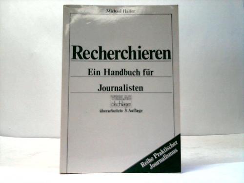 Recherchieren. Ein Handbuch für Journalisten
