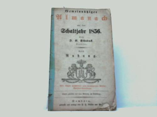 Gemeinnütziger Almanach auf das Schaltjahr 1856 nebst Anhang