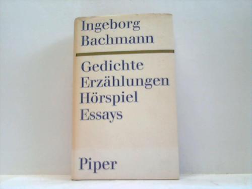 Gedichte. Erzählungen. Hörspiel. Essays