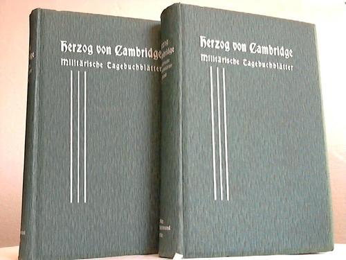 Militärische Tagebuchblätter. 2 Bände