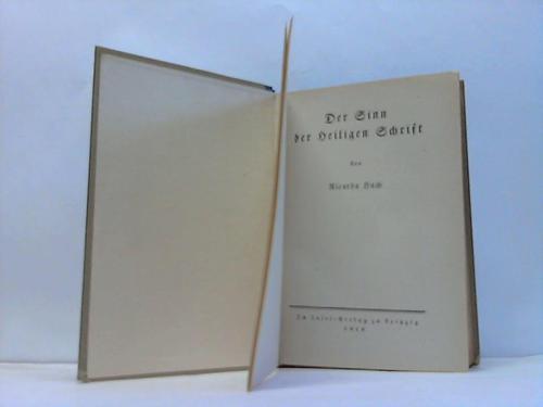 Der Sinn der Heiligen Schrift