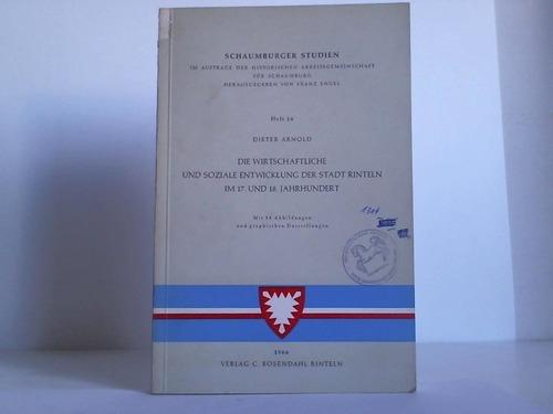 Die wirtschaftliche und soziale Entwicklung der Stadt Rinteln im 17. und 18. Jahrhundert