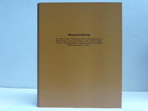 Bergverordnung für alle bergbaulichen Bereiche (Allgemeine Bundesbergbauverordnung - ABBergV) Vom 23. Oktober 1995 (BGBl. I S. 1466). Nebst Nachtrag