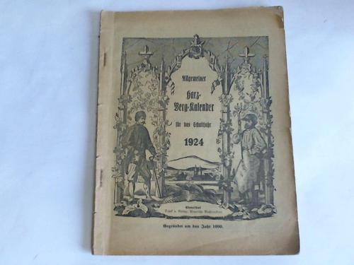 Allgemeiner Harz-Berg-Kalender für das Schaltjahr 1924