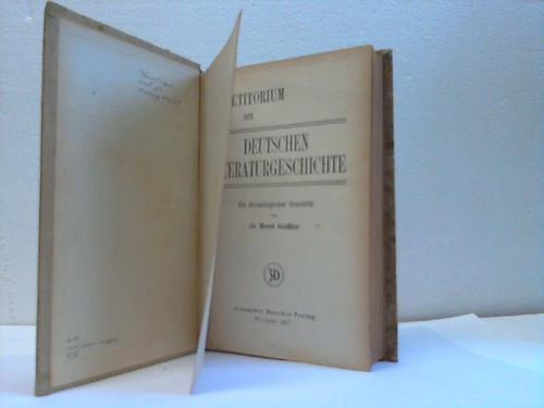 Repertorium der deutschen Literaturgeschichte. Ein chronologischer Grundriß
