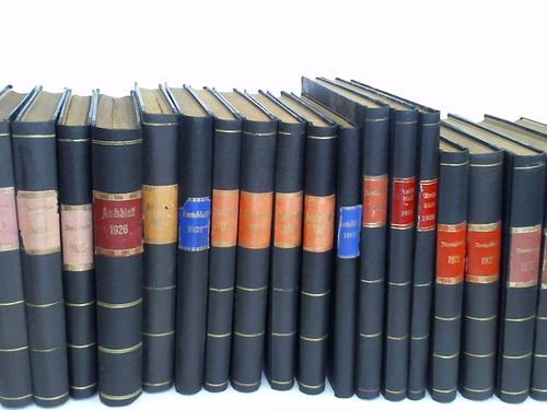 Sammlung von 34 Bänden Jahrgang 1901-1936