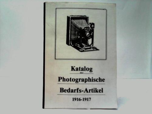 Photoartikel Katalog über Photographische Bedarfs-Artikel 1916-1917