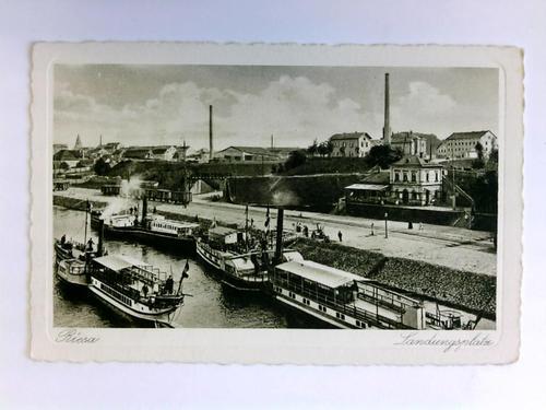 Postkarte: Riesa - Landungsplatz