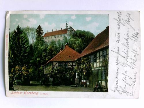 1 Postkarte: Schloss Herzberg a. Harz