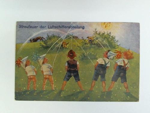 Postkarte: Streufeuer der Luftschifferabteilung