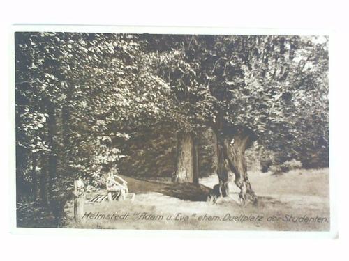 Postkarte: Helmstedt Adam u. Eva ehem. Duellplatz der Studenten