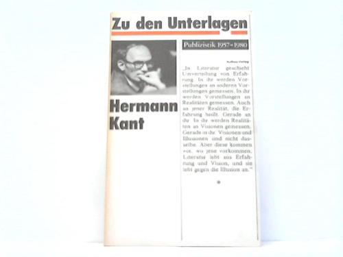 Zu den Unterlagen. Publizistik 1957-1980