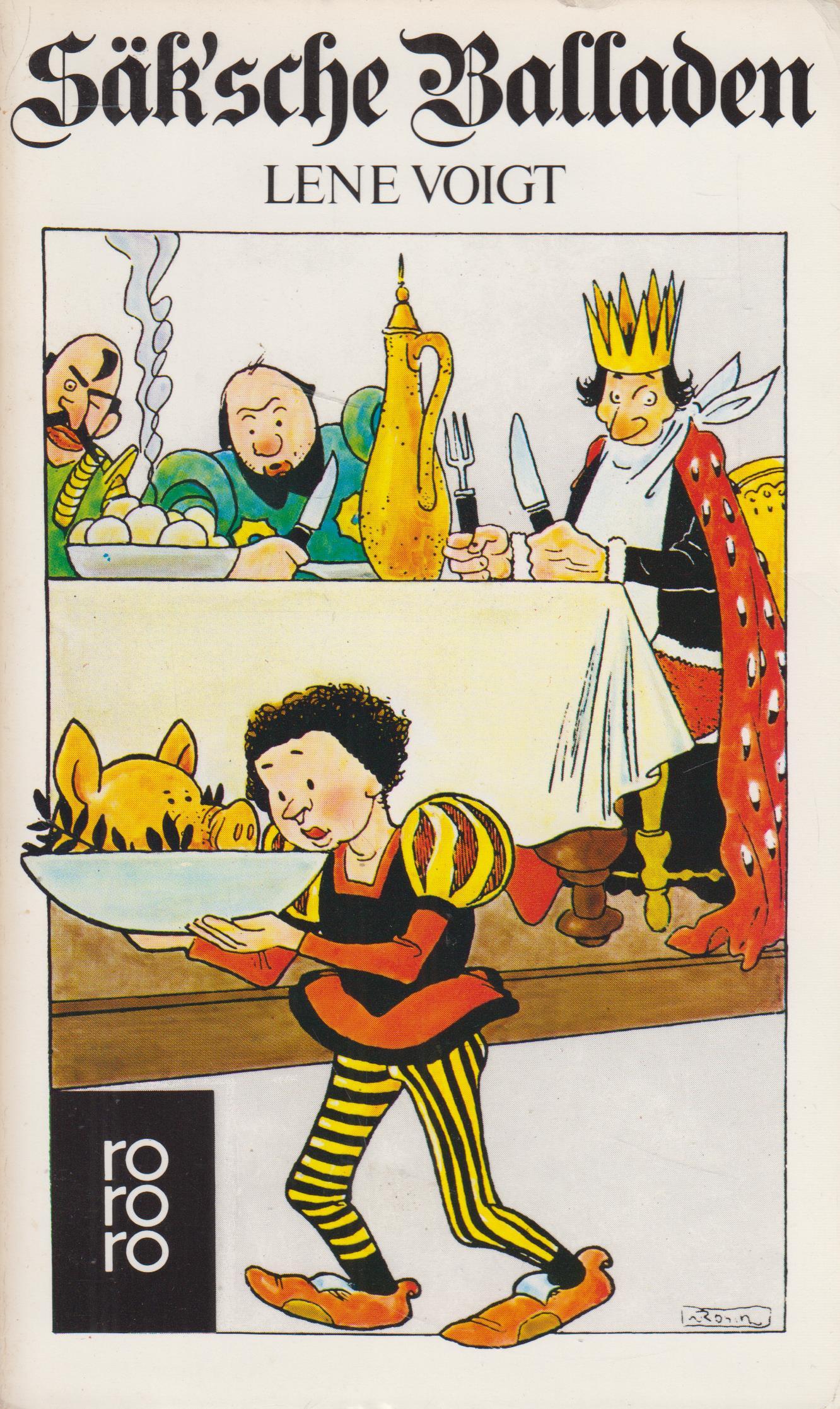 Säk`sche Balladen. Zeichnungen von Walter Rosch. - Voigt, Lene.