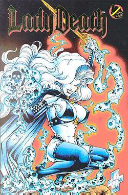 Pulido, Brian und Steven Hughes: Lady Death 1/2 Gold (Variant-Cover) Chaos ! Comics !, 1998, Comic-Heft DEV
